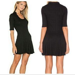 Free People Black Ribbed Jolene Dress